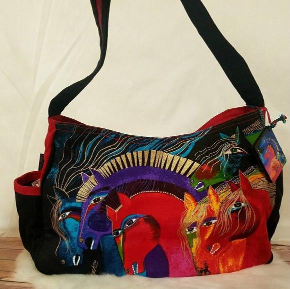 4e02d478db7a Laurel Burch Handbags - Laurel Burch Wild Horses Canvas Tote